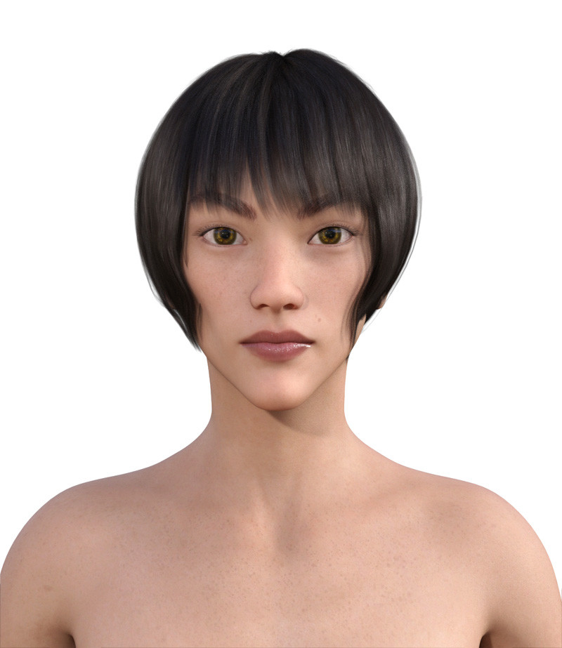 似合う髪型・面長0-11