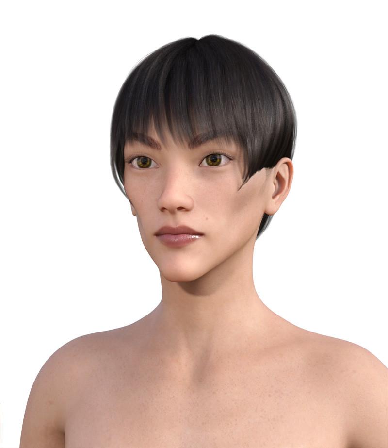 似合う髪型・面長0-13