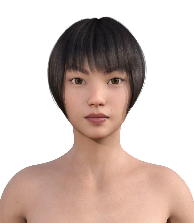 似合う髪型・卵型0-11