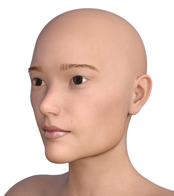 横顔のエラが目立つ2000-1