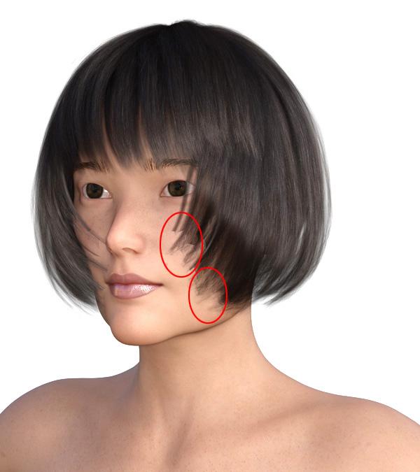 横顔のエラが目立つ2009-1